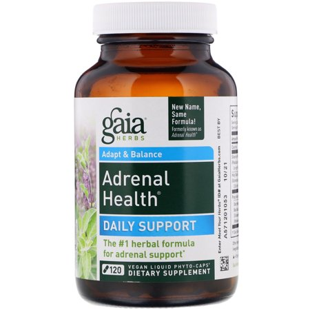 Gaia Herbs Gaia SystemSupport Adrenal Health, 120 (Best Herbs For Health)