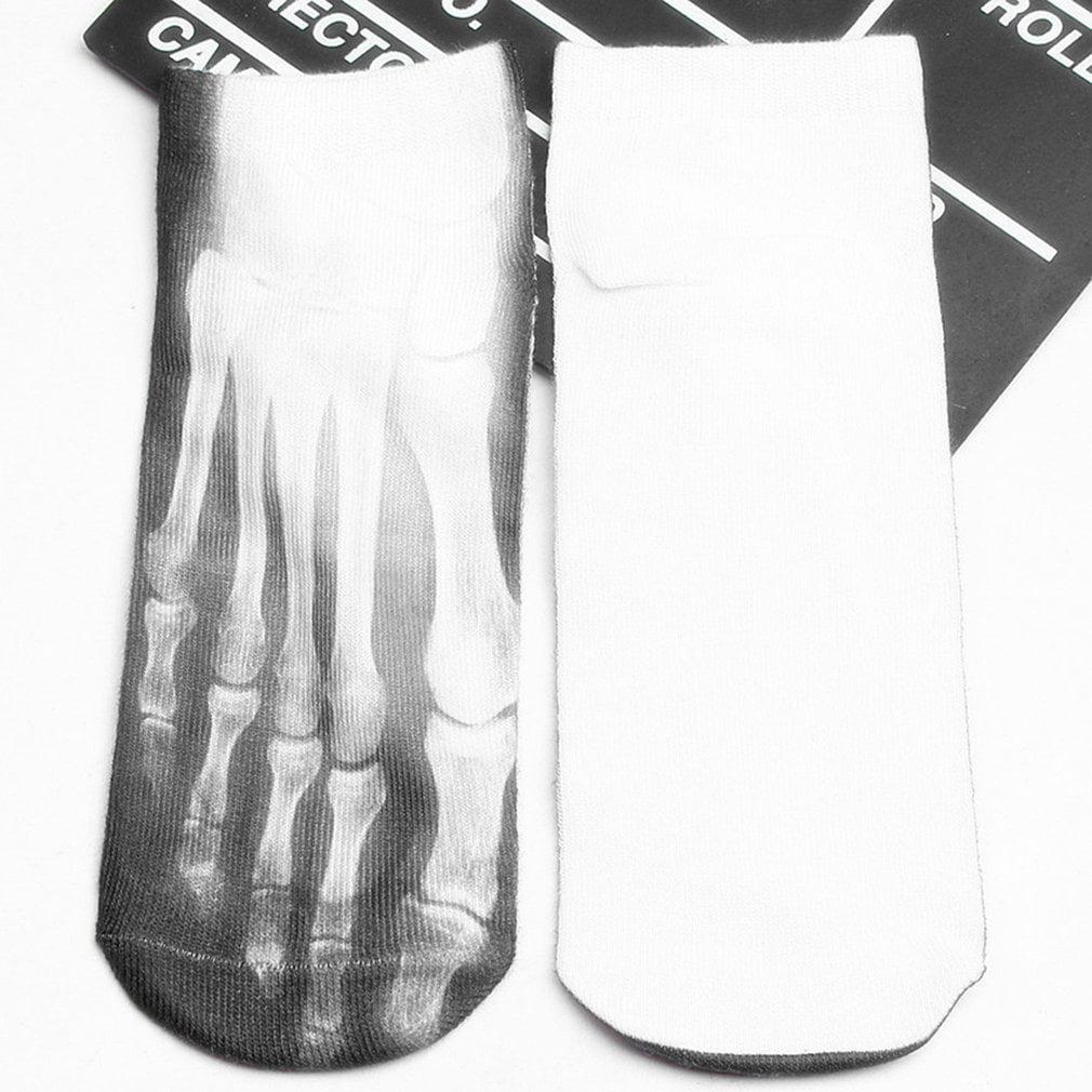 3D Printed Meat Skeleton Diverse Patterns Socks Personality Female Boat Socks