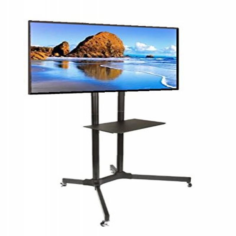 EZM Mobile TV Cart Rolling Stand for LCD LED Plasma Flat ...