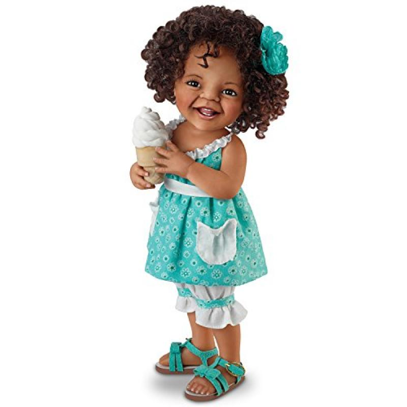 Jane Bradbury Lifelike Poseable Doll With Ice Cream Cone:...