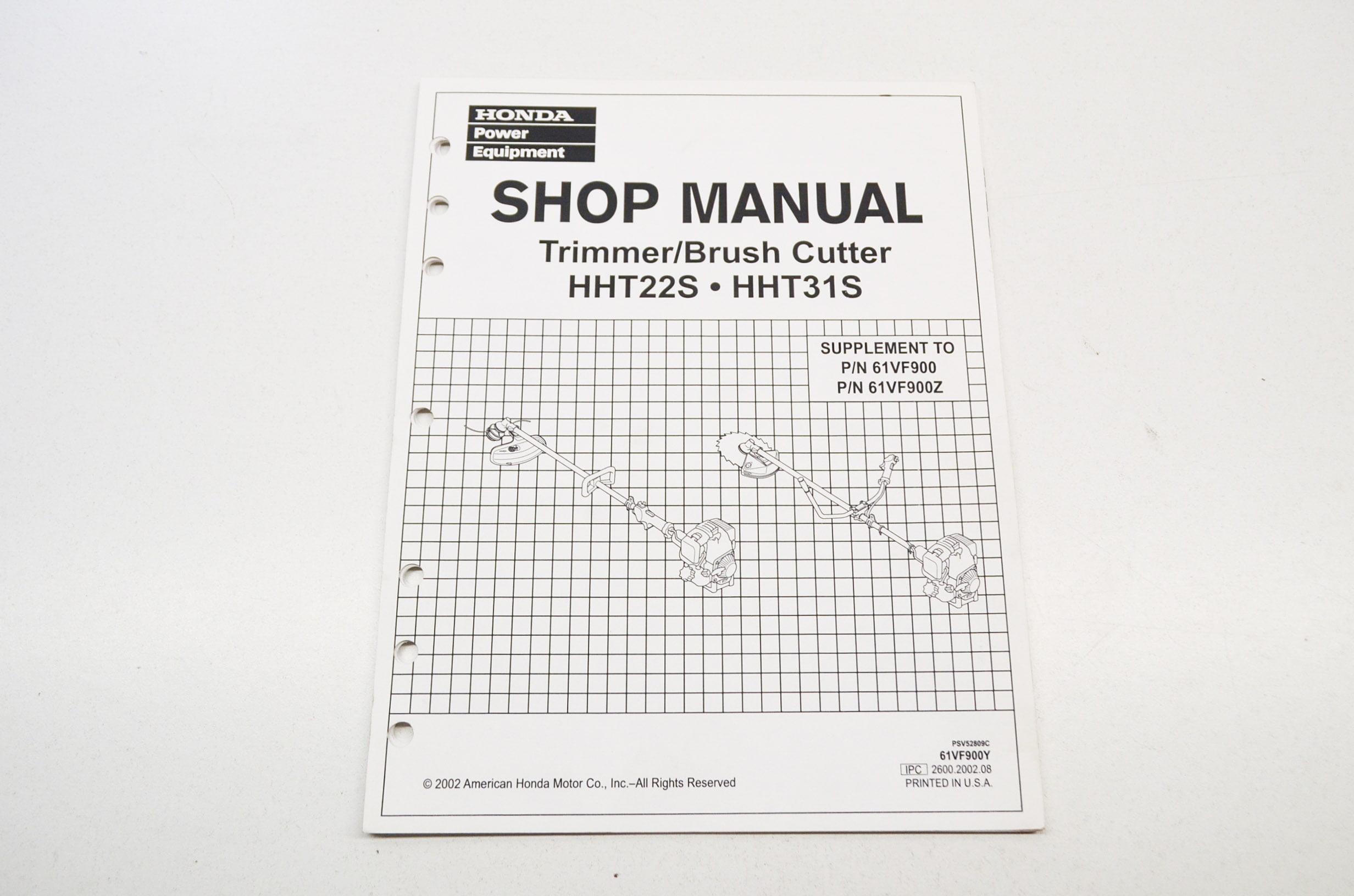 Honda trimmer Hht25s Shop manual