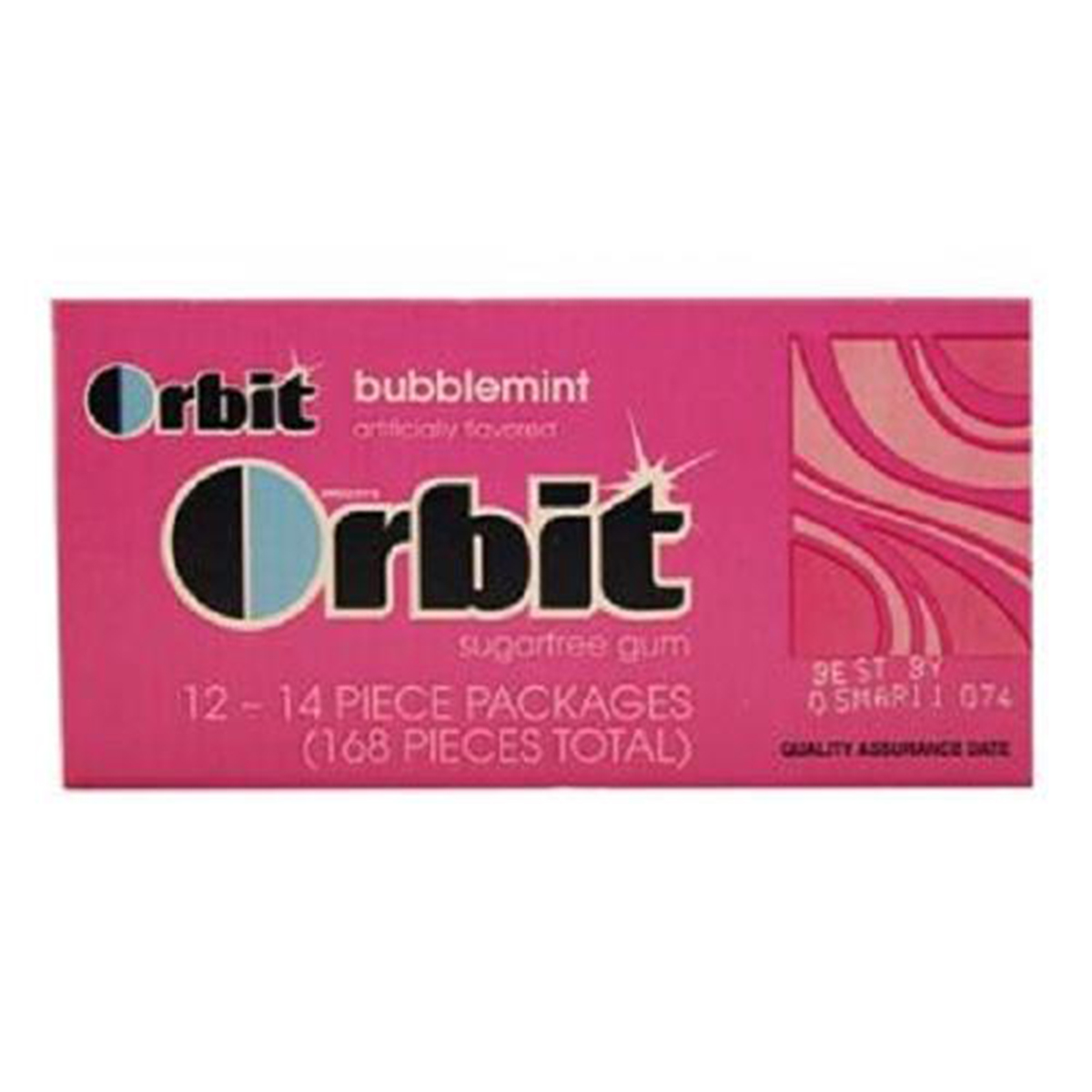 Product Of Orbit, Bubblemint, Count 12 (14S) - Gum / Grab Varieties & Flavors