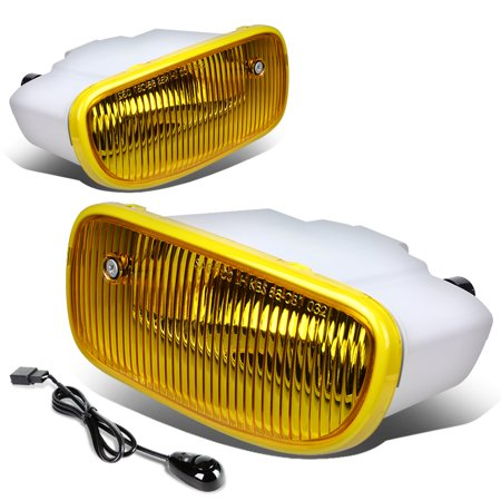 For 1999 to 2004 Jeep Grand Cherokee WJ Pair of Driving Fog Light + Wiring Kit + Switch (Amber Lens) 00 01 02 03 ()