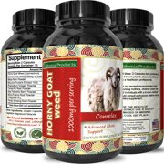 California Products Goat Weed Supplement for Energy Enhancement and Improved Stamina Natural Energy Booster 1000 mg Goat Weed Epimedium Extract with Maca Root Tongkat Ali Ginseng 60 Capsules