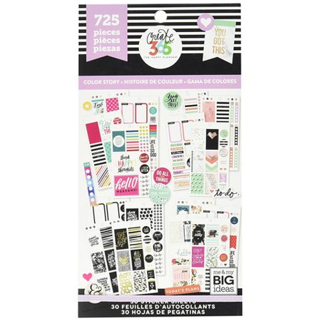 The Happy Planner Color Story Stickers: 725 Pk (Happy Mothers Day Stickers)
