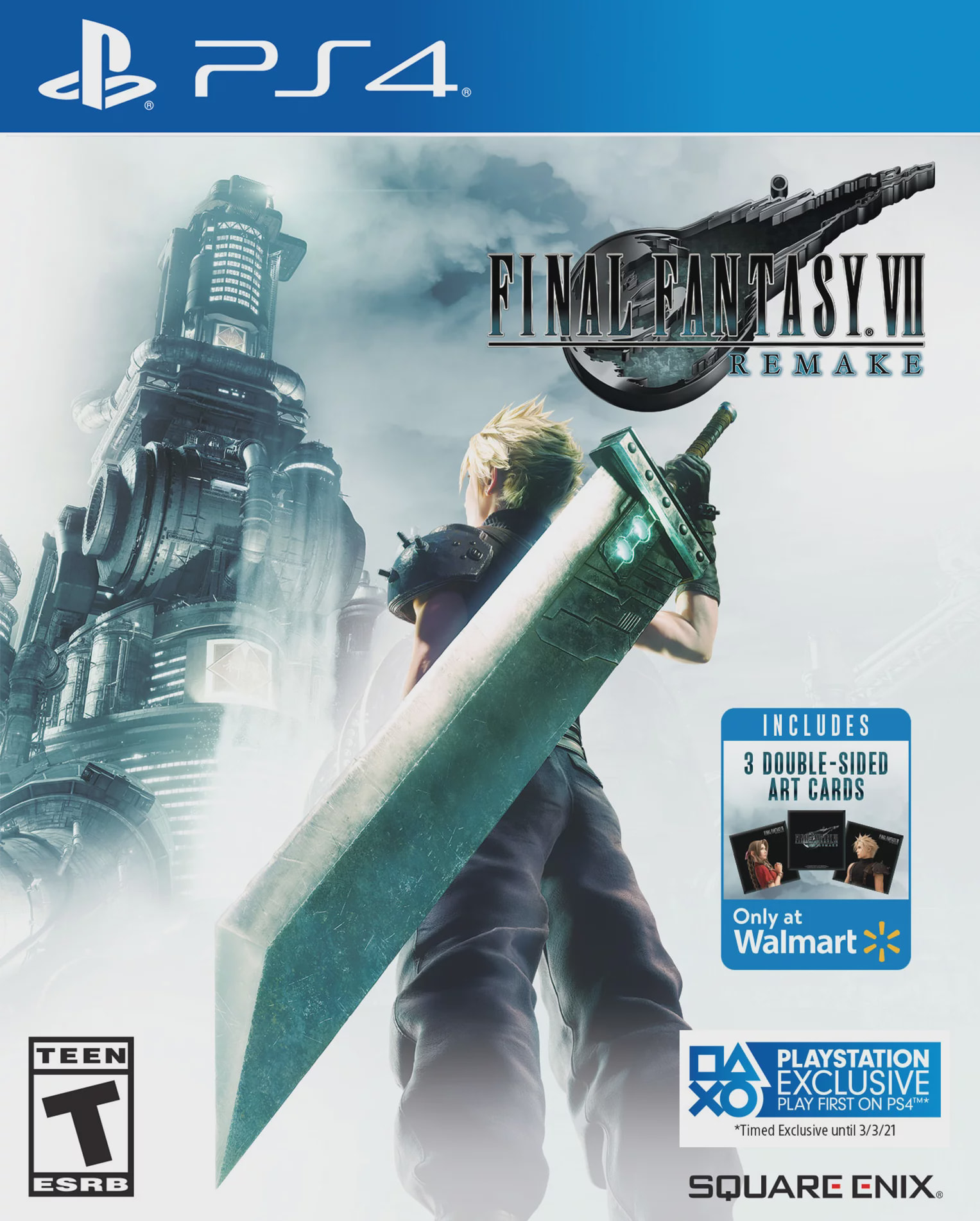 Walmart Exclusive: Final Fantasy VII Remake, Square Enix, PlayStation 4, 662248923635