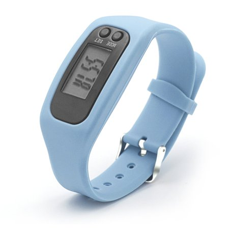 Pedometer Sports Monitor Running Exercising Step Counter Silicone Wristband - image 3 of 9