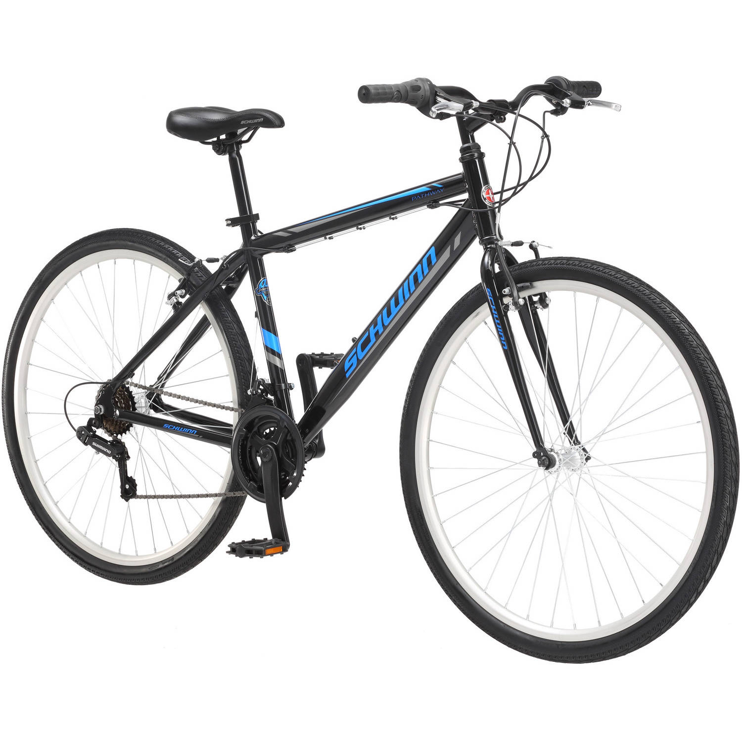 700c Schwinn Pathway Men's Multi-Use Bike, Black