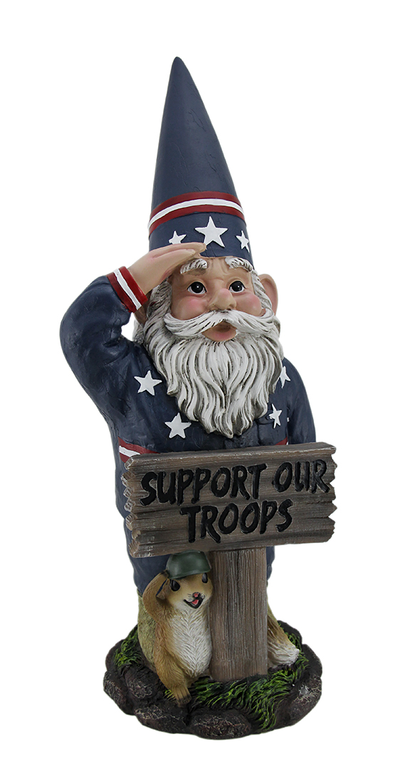 Mr. Americana Give a Salute Support Our Troops GI Garden Gnome Statue by DWK Corporation