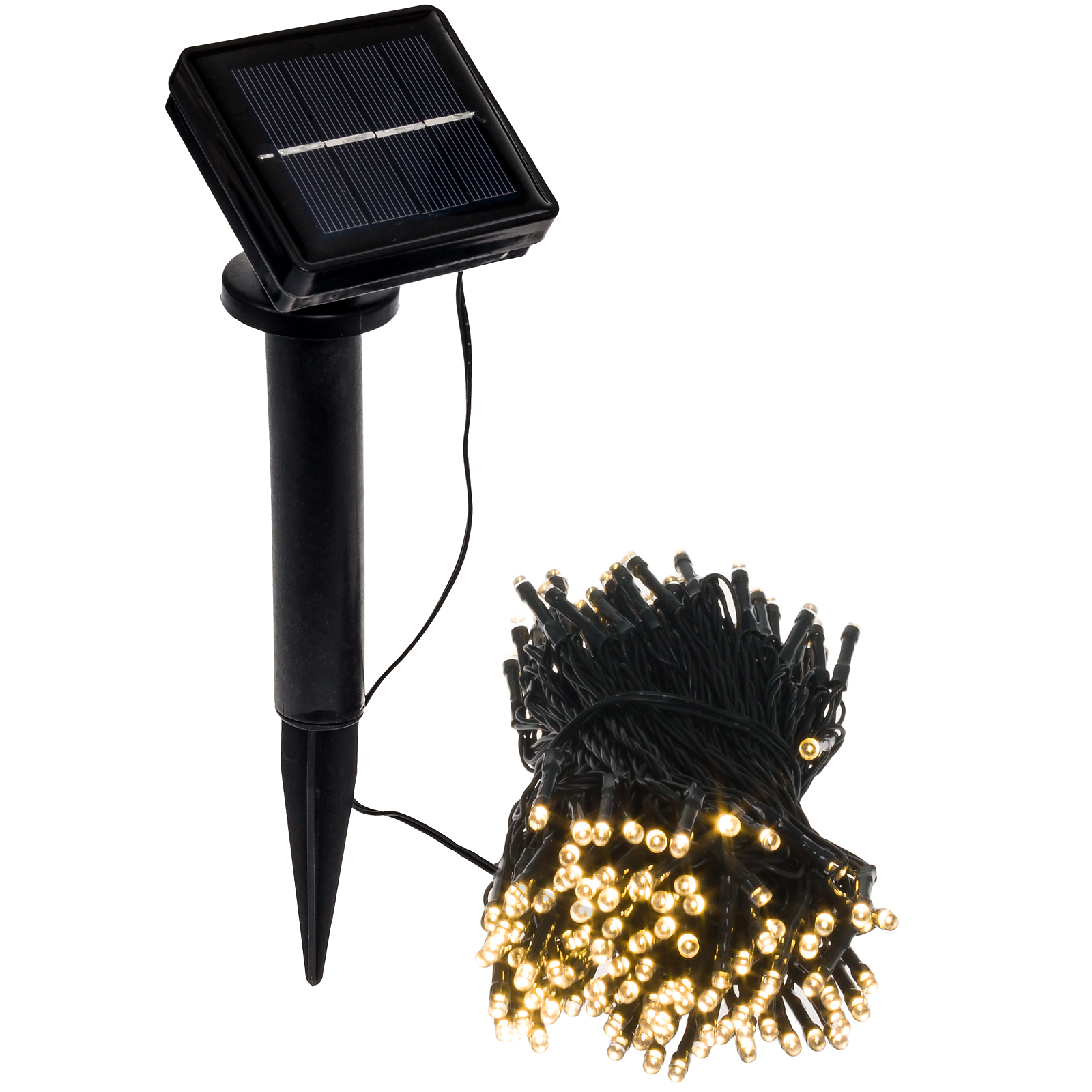 GREENLIGHTING NEW 70' Foot Solar Powered Holiday Rope String Lights w/ 200 LED's