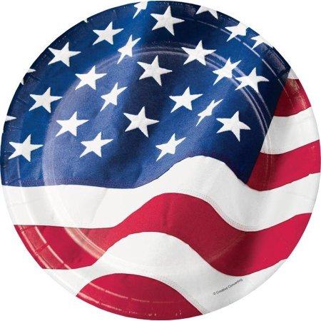 Creative Converting Patriotic Flag Paper Plates, 8 ct](Patriotic Paper Plates)