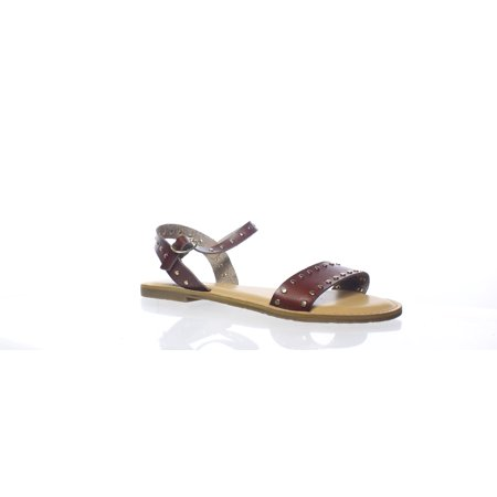Rock & Candy Womens Blakeley Brown Faux Ankle Strap Flats Size 8.5 (Rock And Candy Flats)