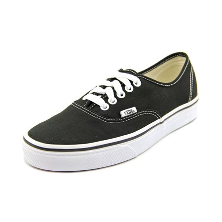 Vans Authentic Women  Round Toe Canvas Black - All Black Toddler Vans