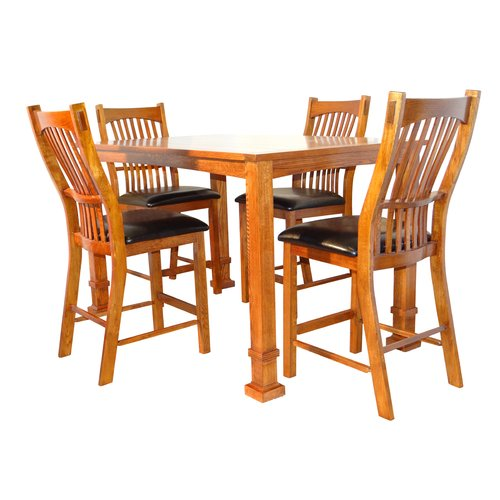 Darby Home Co Lagunitas 5 Piece Counter Height Solid Wood Dining Set