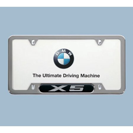 Genuine OE BMW License Plate Frame With Chrome X5 Emblem 82-12-0-418-629 ()
