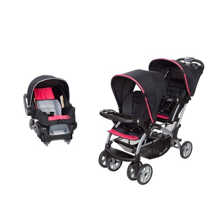 Baby Trend Double Sit N Stand Stroller System And Travel Car Seat Optic Pink