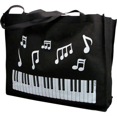 Music Bag (Keyboard and Music Notes Tote Bag)