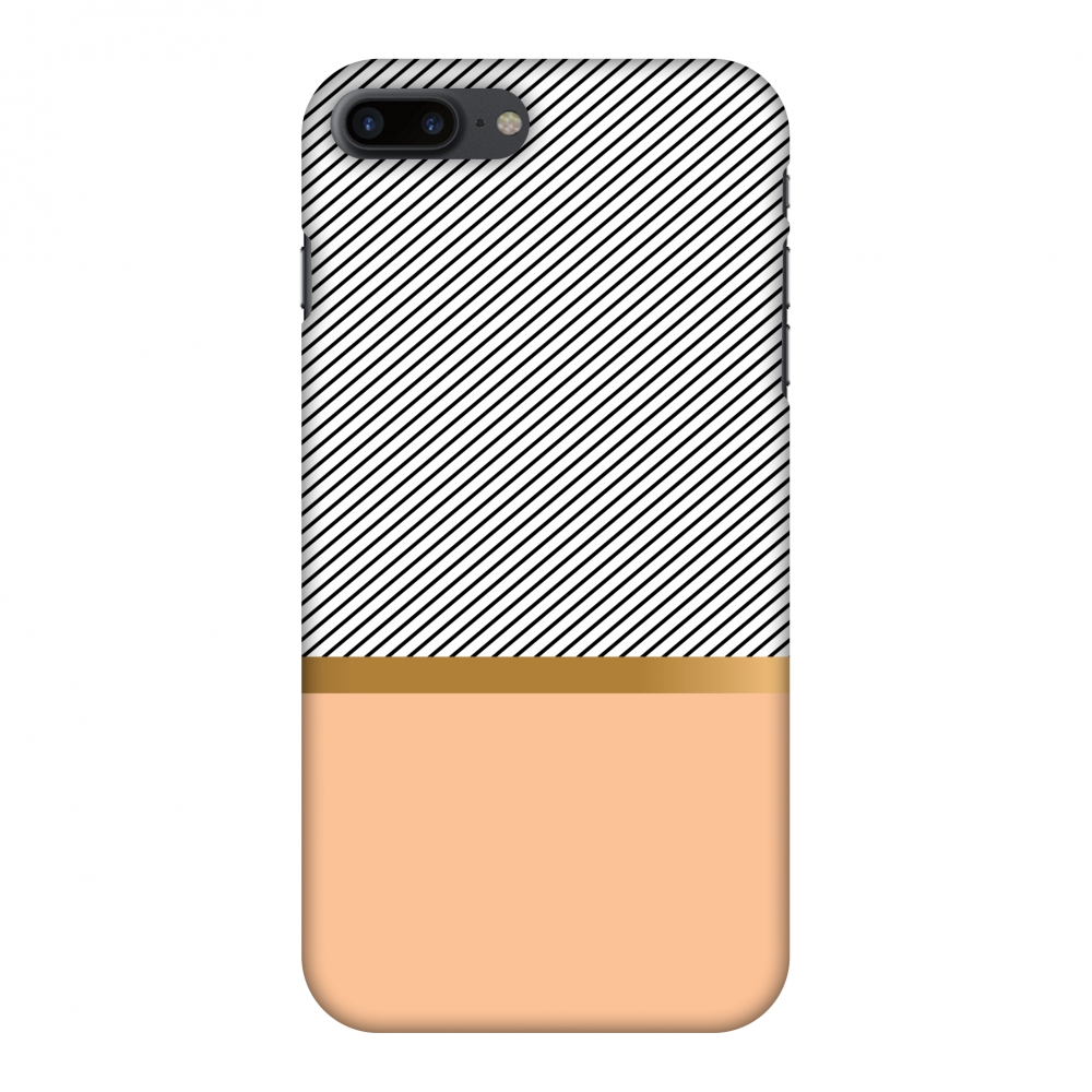 iPhone 8 Plus Case - Stripe Away, Hard Plastic Back Cover. Slim Profile Cute Printed Designer Snap on Case with Screen Cleaning Kit