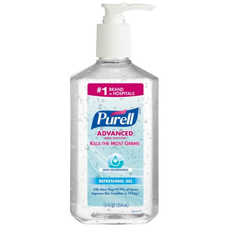 Skin Sanitiser - PURELL® Advanced Hand Sanitizer Skin Nourishing Gel - 12 fl oz Table Top Pump Bottle