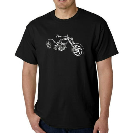 Los Angeles Pop Art Men's T-shirt - Motorcycle