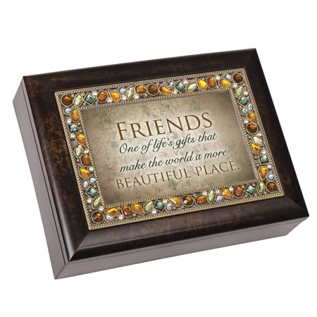 Cottage Garden JM396A Friends Jeweled Amber Music Box