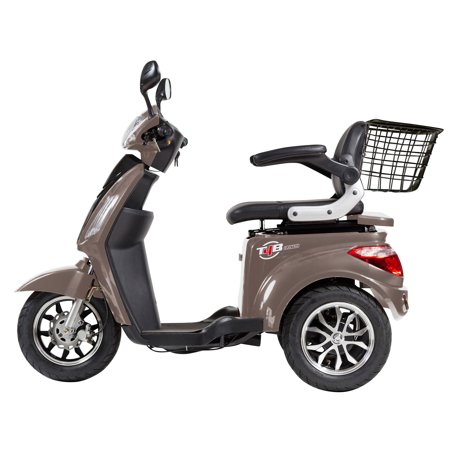 T4B LU-500W Mobility Electric Recreational Outdoors Scooter 48V20AH with Three Speeds, 14/22/32kmph - Brown - image 3 de 14
