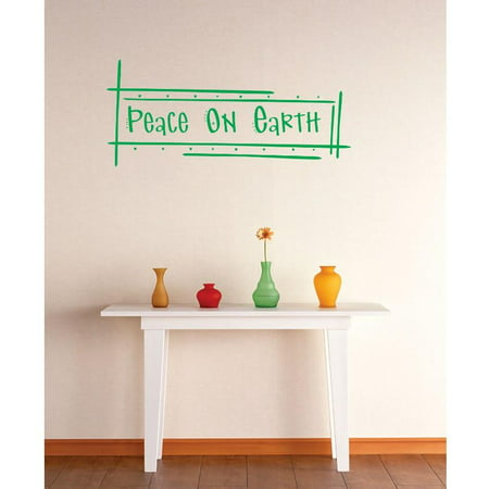 Do it yourself wall decal sticker peace on earth image for Do it yourself wall mural