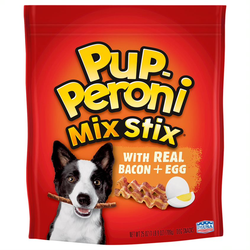 Pup-Peroni Mix Stix Real Bacon + Egg Flavor Dog Snacks, 25-Ounce