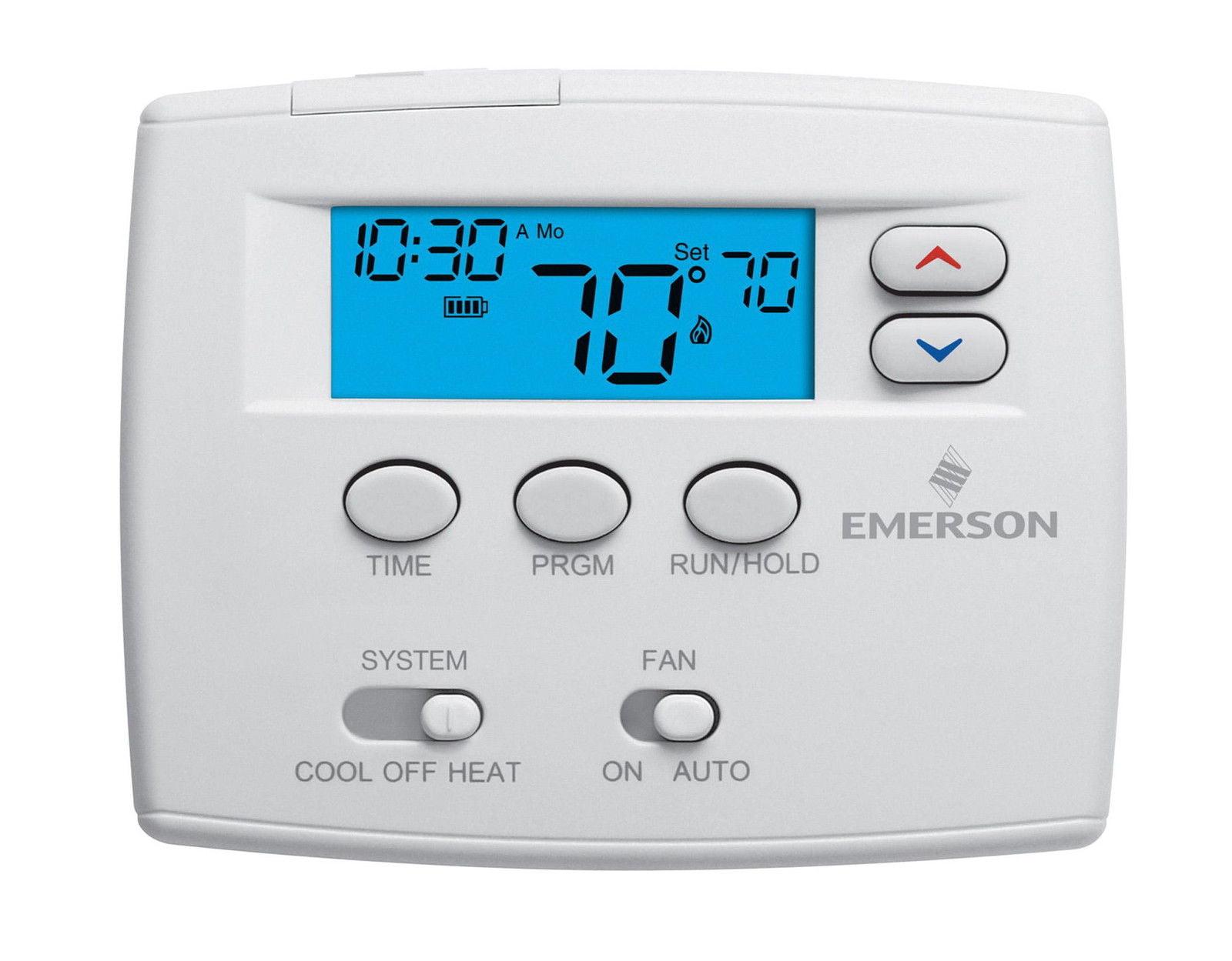 programmable digital thermostat 1f80 0261 walmart com rh walmart com White Rodgers Thermostat Operating Manuals emerson big blue universal thermostat manual