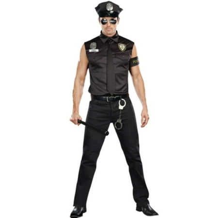 Dreamgirl Mens Black Dirty Cop Officer Ed Banger Costume