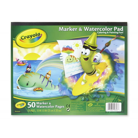 Jumbo Finger Paint Paper - Crayola Marker & Watercolor Paper Pad, 50 Sheets Heaveywright Paper