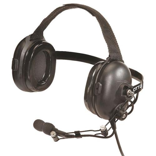 OTTO V4-10001-S Behind the Head Headset,Black Resin