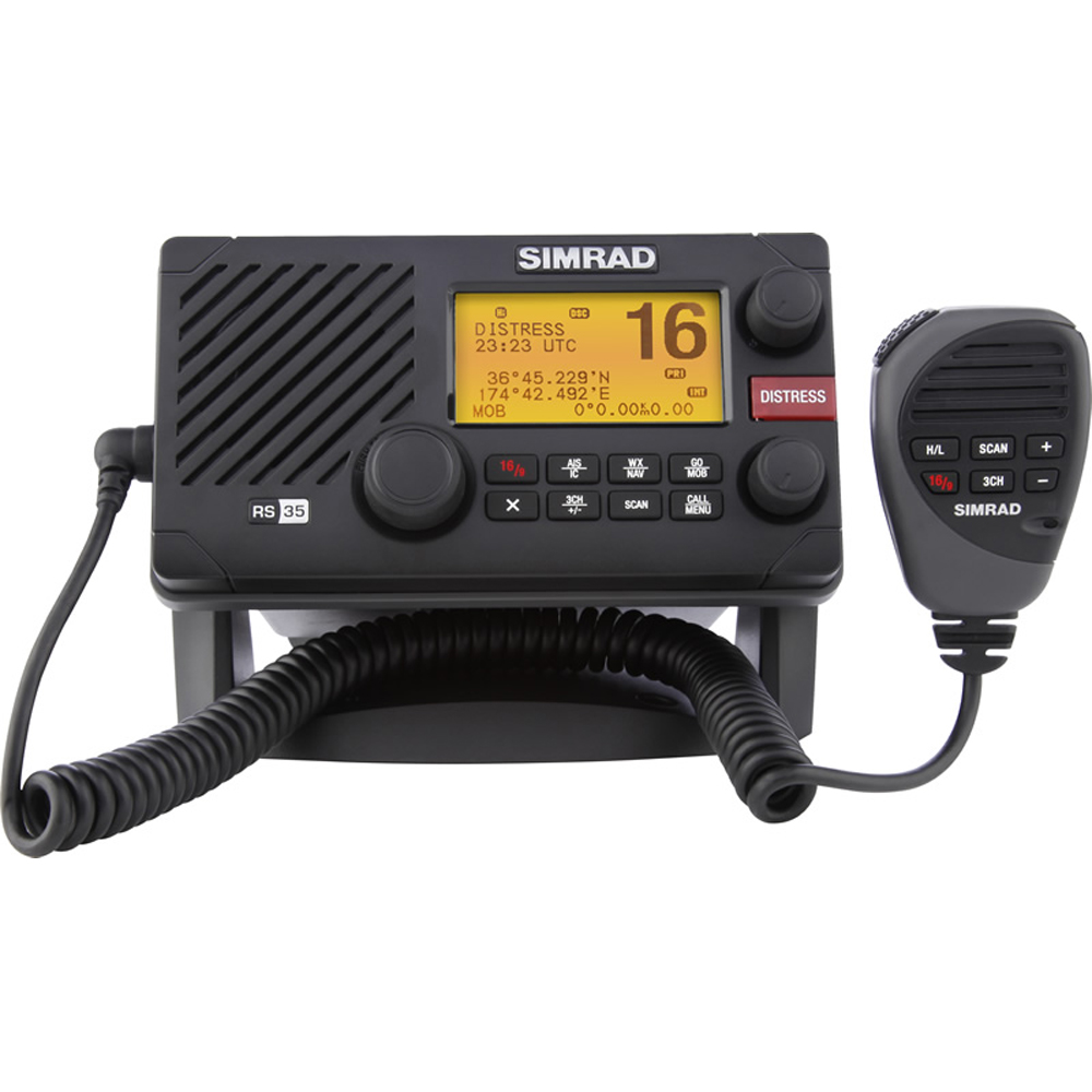 SIMRAD RS35 VHF RADIO WITH AIS AND NMEA 2000 CONNECTIVITY 000-10790-001