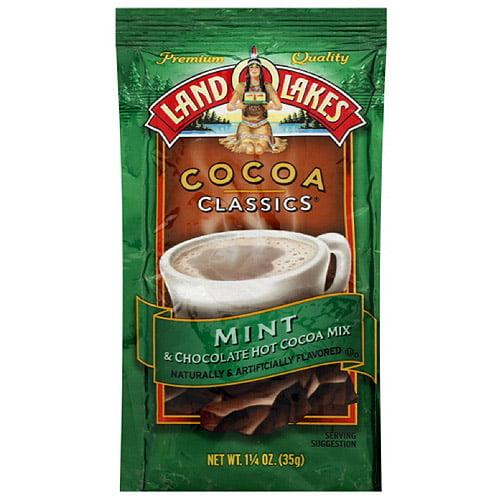 Land O Lakes Cocoa Classics Mint & Chocolate Hot Cocoa Mix, 1.25 oz (Pack of 12)