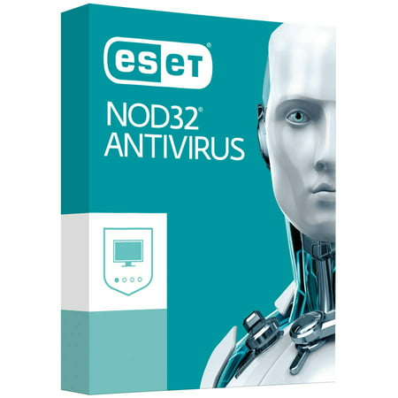 Eset Nod32 Antivirus  1 User  1 Year  V10  2017