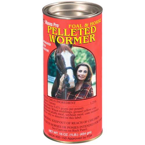 Pelleted Wormer: Medicated Feed Additive Animal Feed Foal & Horses, 16 oz