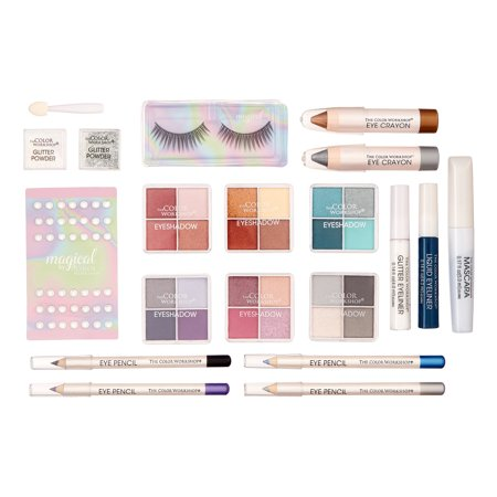 The Color Workshop Enchanted Eyes Makeup Gift Set, 38 Pieces