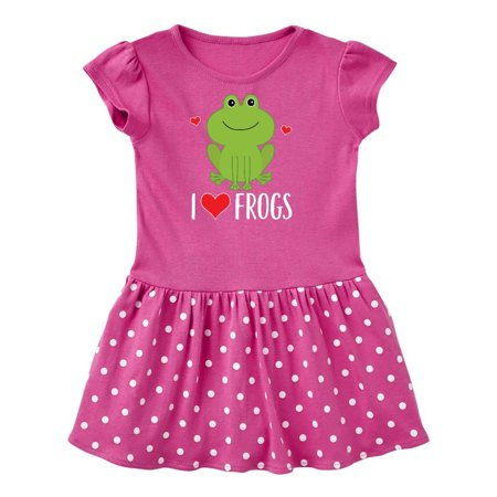 I Love Frogs Gift Toddler Dress (Kermit The Frog Dress)