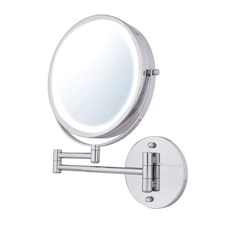 Ovente Wall Mount Makeup Mirror Battery Operated Led