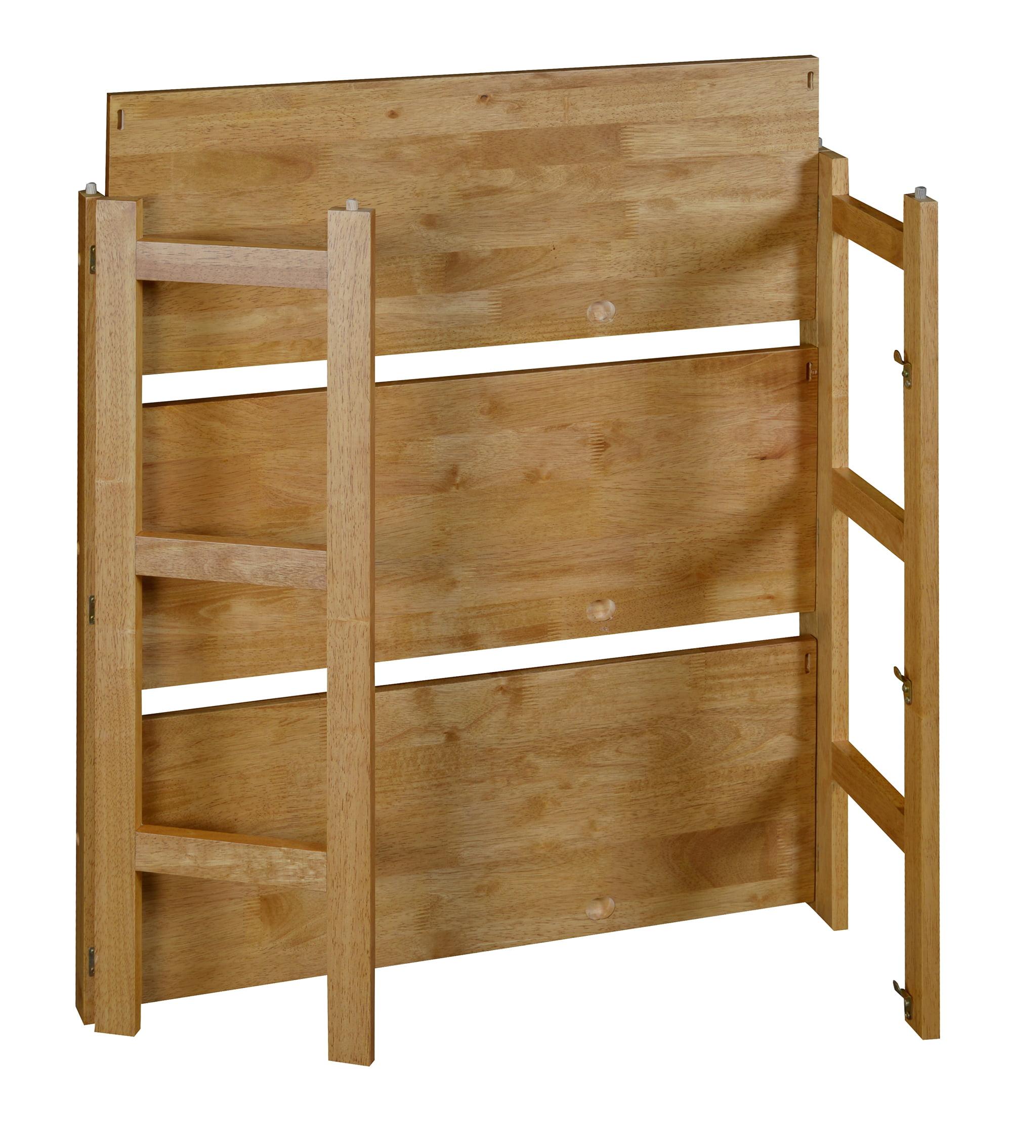 "Flip Flop 34"" High Folding Bookcase- Medium Oak - Walmart.com"