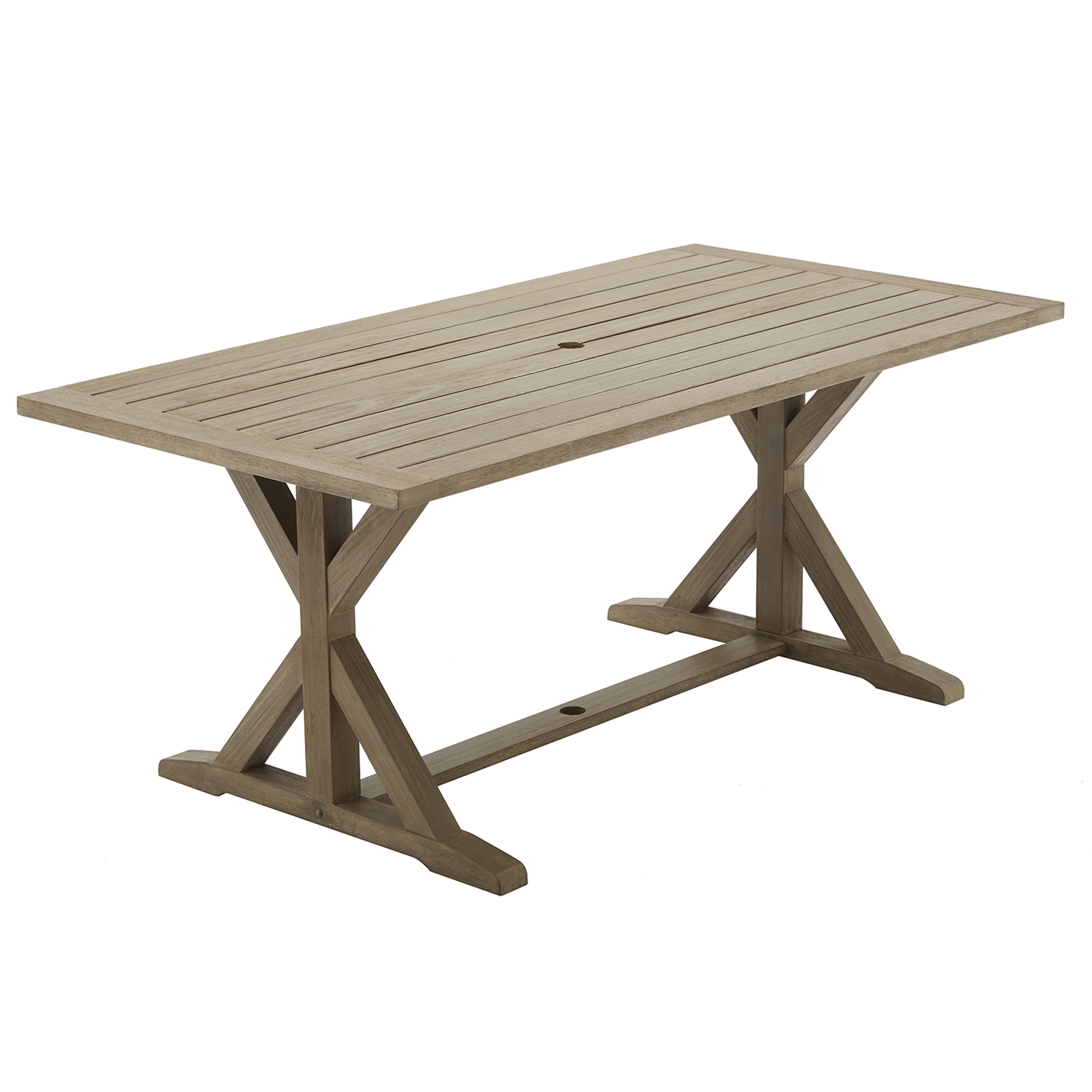 Better Homes And Gardens Camrose Farmhouse Trestle Based Outdoor Dining  Table