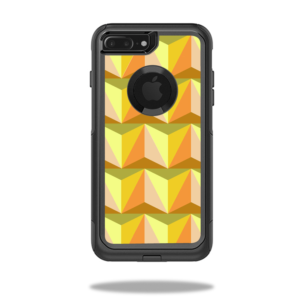 MightySkins Protective Vinyl Skin Decal for OtterBox Commuter iPhone 7 Plus Case wrap cover sticker skins Angle Orange