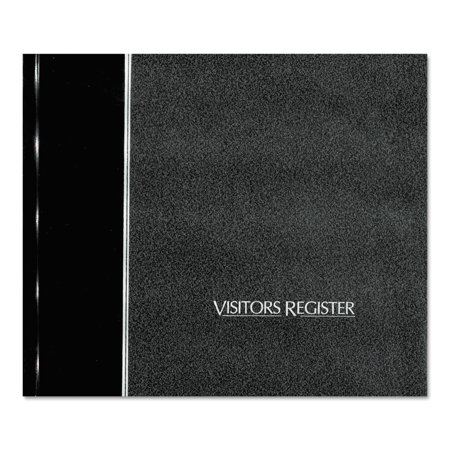 National Visitor Register Book  Black Hardcover  128 Pages  8 1 2 X 9 7 8