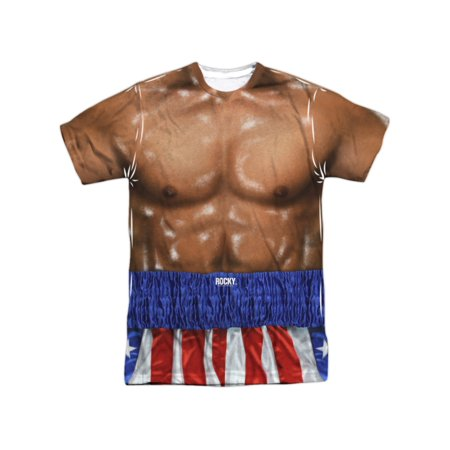Rocky Apollo Creed Muscle Torso Costume Adult Front/Back Print T-Shirt - This Is Halloween Version Rock