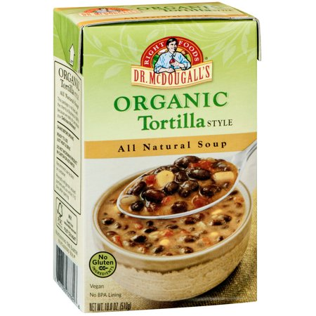 Dr. McDougall's Right Foods Organic Tortilla Style All Natural Soup, 18 oz, (Pack of 6) - Organic Tortilla Soup