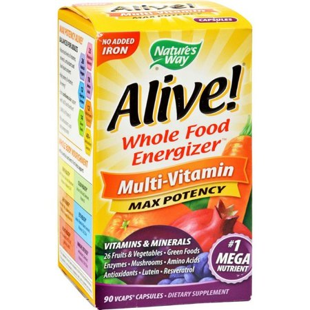 Nature's Way Alive Whole Food Energizer Mult-vitamin - 90 Vcaps Alive Whole Food Energizer
