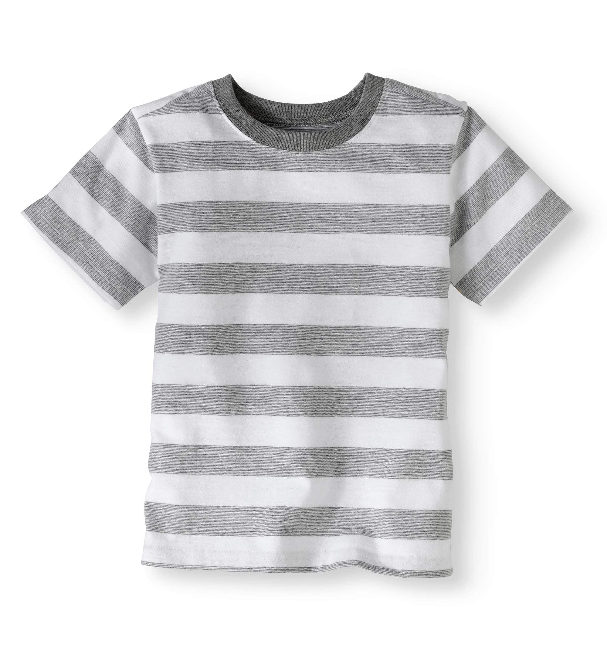 Clothing Tees Boys Grey Striped T-shirt