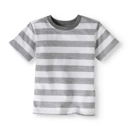 c5ccdf4cf Toddler Boys  Short Sleeve Stripe T-Shirt - Walmart.com