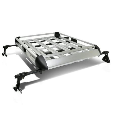 """50"""" x 38"""" Aluminum Roof Rack Top Cargo Carrier Basket+Cross Bar (Silver)"""
