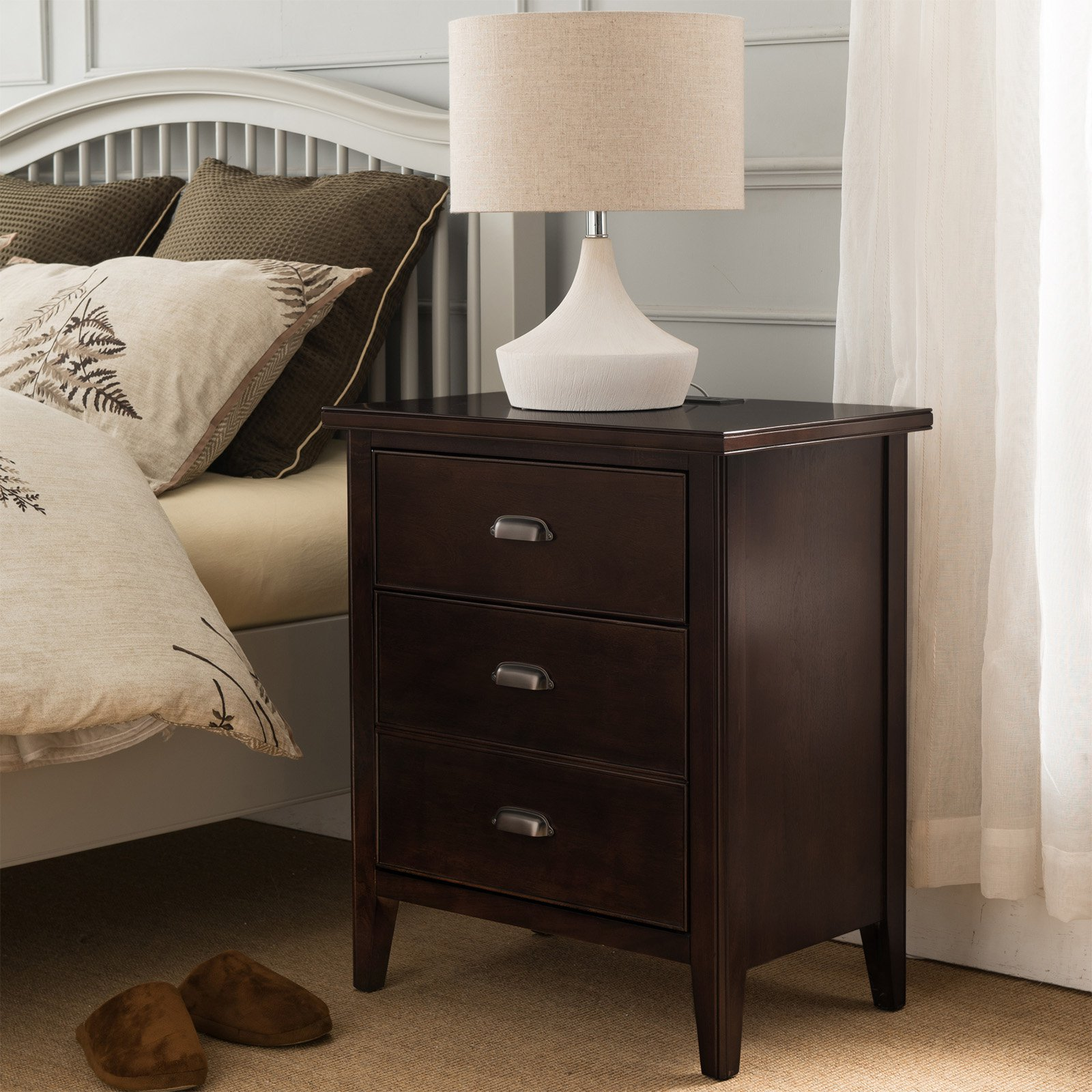 Leick Furniture 3 Drawer Night Stand by Leick Furniture